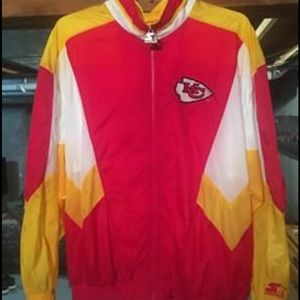 Vintage XL Starter KC Chiefs Windbreaker